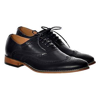 Onlineshoe Hombres Belgravia Smart Brogue Zapato Cuero Look