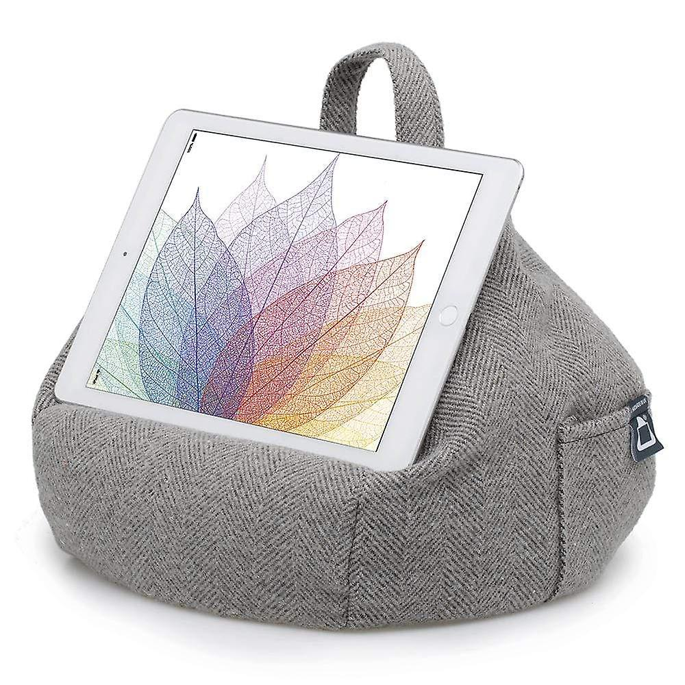 Ipad, tablet & ereader bean bag stand by ibeani - herringbone grey