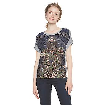 Desigual Women's Pi Indian Floral Tshirt Top