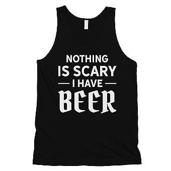 Mikään pelottava olutta Mens musta viileä hauska Spooky hyvä säiliö alkuun lahja