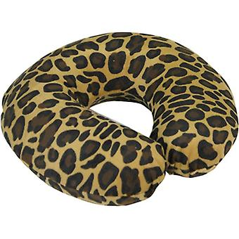 Aidapt nekkussen reiskussen - memoryfoam leopard print