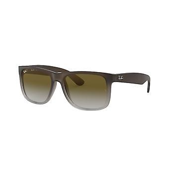 Ray-Ban Justin RB4165 854/7Z Gummibrun på grå/grön lutning solglasögon
