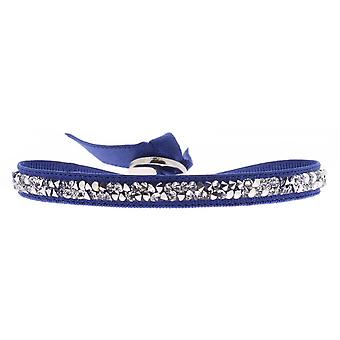 Bracelet Les Interchangeables A31842 - Bracelet Tissu Bleu Cristaux Swarovski Femme