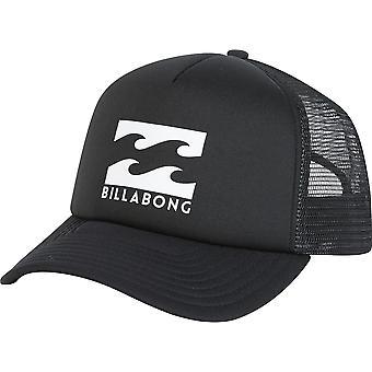 Billabong Men's Snapback Trucker Cap ~ Podium black white 2