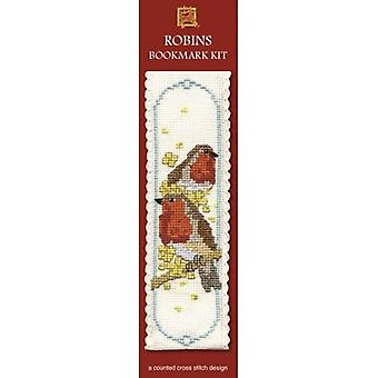 Textile Heritage Counted Cross Stitch Bookmark - Robin