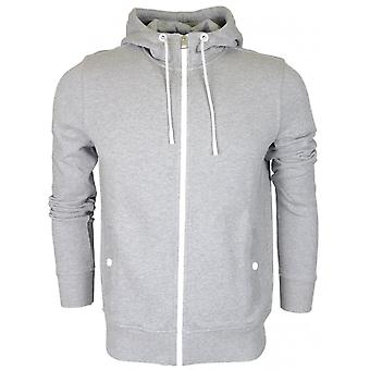 Hugo Boss Zounds Cotton Zip Up Grey Hoodie