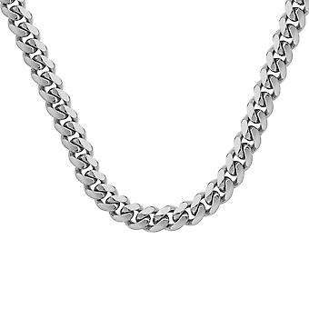 925 Sterling Silver Rhodium Plated 10.5 4.2mm Miami Curb Chain Necklace Jewelry Gifts for Women - Length: 24 to 30