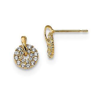 7mm 14k Madi K CZ Cubic Zirconia Simulated Diamond Wreath Post Earrings Jewelry Gifts for Women