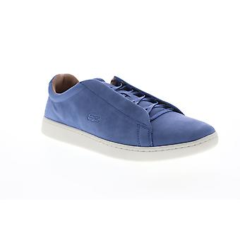 Lacoste Carnaby Evo Easy 319 1 SMA Mens Blue Leather Low Top Sneakers Buty