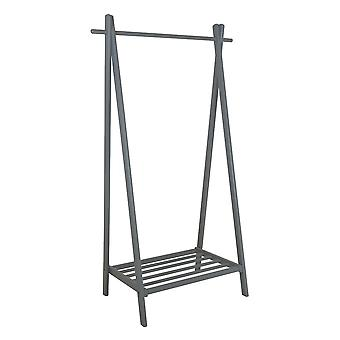 Charles Bentley Large Solid Wood Hanging Clothes Rail/Clothing Stand/Shoe Rack Grijs 150x50x89cm