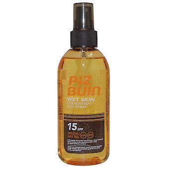 Piz Buin pele molhada transparente Sun Spray 150ml SPF15