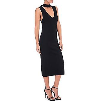 Bobeau Raine V-Neck Sweater Dress Black