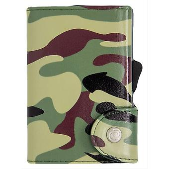 C-Secure Camouflage Print Single Card Holder Wallet - Green