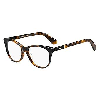 Kate Spade Johnna 581 Havana-Black Glasses