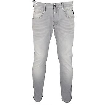 Replay Anbass Hyperflex Bio Stretch Grey Slim Jeans