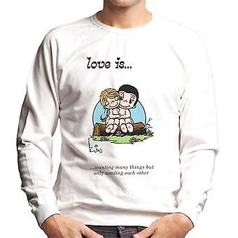 Love Is Wanting Many Things But Only Needing Each Other Men's Sweatshirt