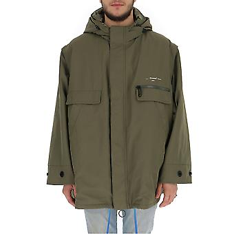Off-white Omeb010f19f230264301 Men's Green Polyester Outerwear Jacket
