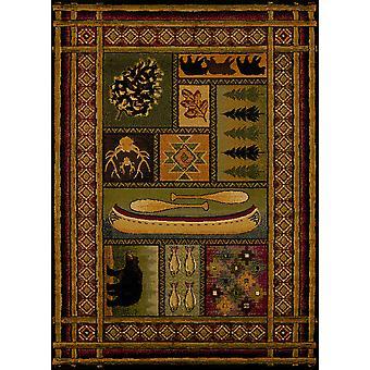 22&; x 86& Wielokolorowy dywan z polipropylenu