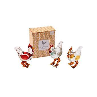 CGB regalos uno vidrio gallo Ornamental