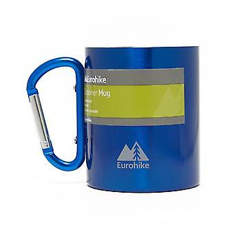 New Eurohike Carabiner Stainless Steel Mug Blue