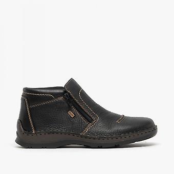 ريكر 05372-00 رجال أحذية الكاحل البريدي الأسود