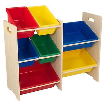 KidKraft Shelf Container for games with 7 containers