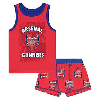 Arsenal FC Official Football Gift Boys Boxer Shorts & Vest Set