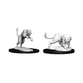 D&D Nolzur's Marvelous Unpainted Miniatures Panther & Leopard (Pack of 6)