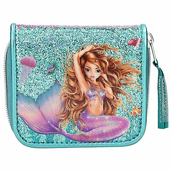 Depesche Fantasy Model Coin Glitter Purse Mermaid Turquoise Wallet