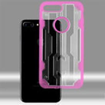 ASMYNA Chali Hybrid Case pour iPhone 8/7 Plus - Transparent Clear/Hot Pink