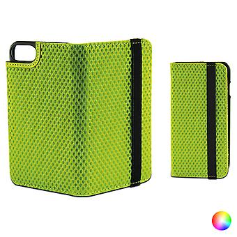 Folio mobiltelefon fodral med elastisk Iphone 7 KSIX Sport / Grön