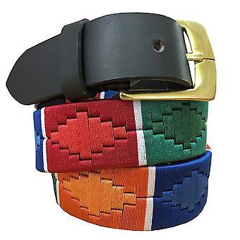 Carlos diaz unisex brun læder polo bælte cdpbhk138