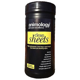 GRP 55 Animology kaksipuolinen PET puhdistus pyyhkeitä (80 arkkia)