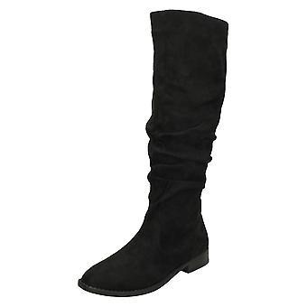 Spot på dame/damer ruched knæ høje støvler