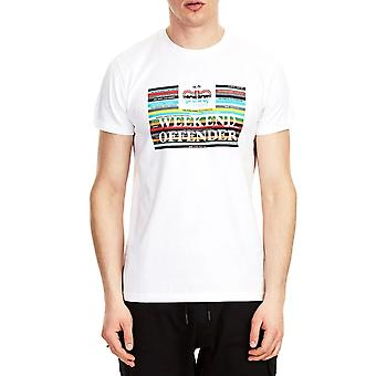 Weekend Offender Spines 2009 Graphic Colour Logo Half Sleeve T-shirt - White