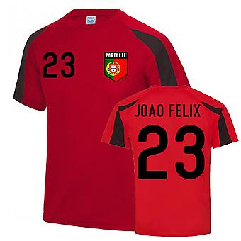 Joao Felix Portugal Sports Training Jersey (Red-Black)