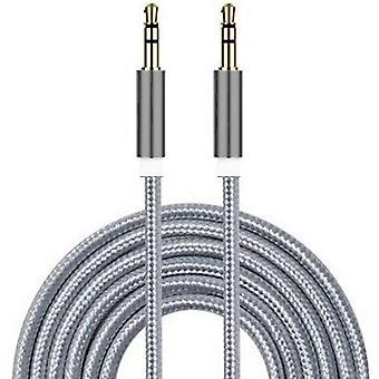 Samsung Galaxy S20 5G (Grey 1M) AUX Nylon Braided 3.5mm Audio Cable