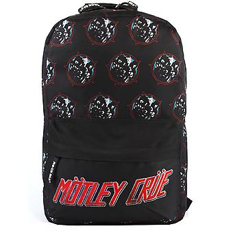 Rock Sax Motley Crue Rucksack Heavy Metal Power Black Backpack