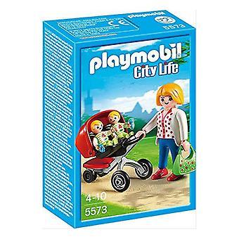 Playset City Life Mama met Twin Cart Playmobil 5573