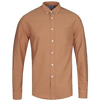 Portuguese Flannel Belvista Button-Down Long Sleeve Brick Tan Shirt