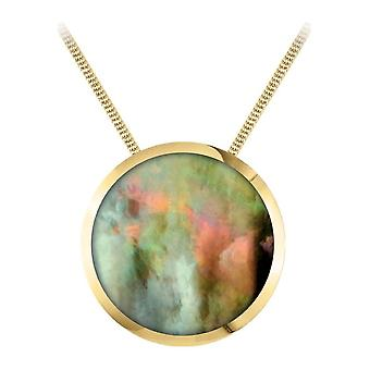 Jacques Lemans - necklace with mother-of-pearl pendant - S-C71D