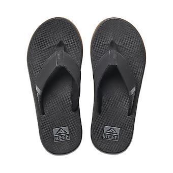Reef Mens Sandals With Bottle Opener ~ Fanning Low black