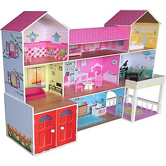 Kiddi estilo enorme mansão Manor Dolls House