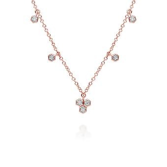 Collana Diamond Trilogy Choker in 9ct Rose Gold 191N0228029