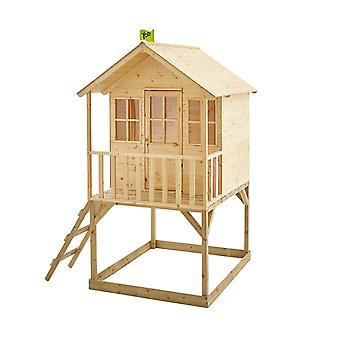 TP Toys Hill Top Wooden Tower Playhouse With Sandpit
