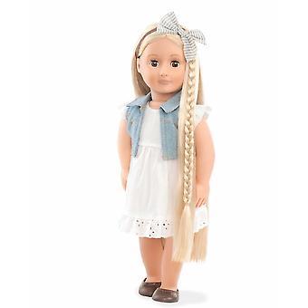 Vår generasjon Phoebe Hairgrow 46 cm dukke