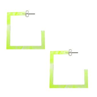 26mm Yellow UV Square Ear Hoop