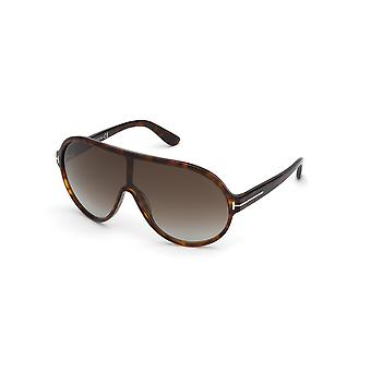 Tom Ford Brenton TF814 54K Red Havana/Gradient Roviex Sunglasses