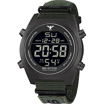 KHS - Men's Watch - Inceptor Black Steel Digital Natob. - KHS. INCBSD. NXTO1
