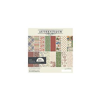 Authentique כפרי 6x6 אינץ' נייר Pad